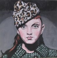 lily in leopard skin hat by nellbelle