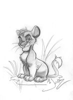 Simba Pencil Sketch by dodgyrommer