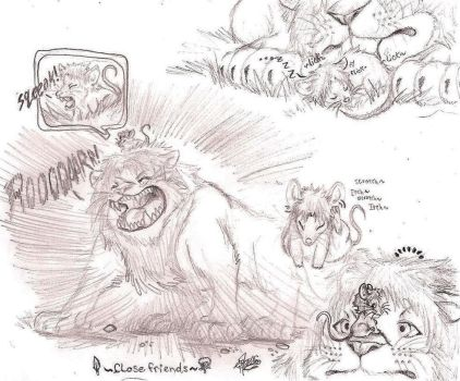 .: -The Lion and The Mouse - Size 3- :. by PrideAlchemist7