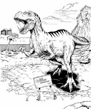 T-Rex Pencils and Inks Part 2 by wchello22