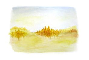 Autumn Watercolour by Itherin