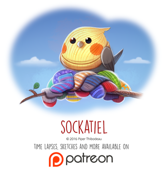 Daily Paint 1458. Sockatiel by Cryptid-Creations