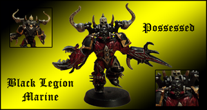 Black Legion Possessed Marine 001 by Knyghtos