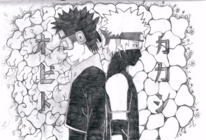 Kakashi and Obito by Jessy08