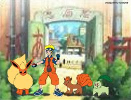 Naruto's Pokemon Team by m2cool