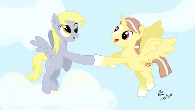 Derpy and Cuca :D by namikalee