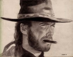 Clint Eastwood by GlennD1961