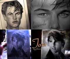 TOM CRUISE CHARCOAL AND LEONARDO by JikeArts