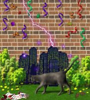 Kitty Attacks Urban Lilliput by AlmightyOracle