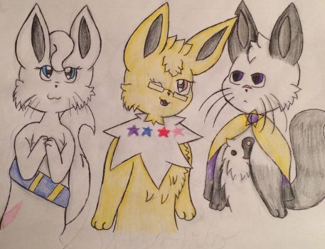 The Sky Trio  by Starry-the-Jolteon