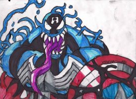 Another Symbiote Captain America by ChahlesXavier