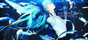 Hatsune Miku Vocaloid Signature by outcry16