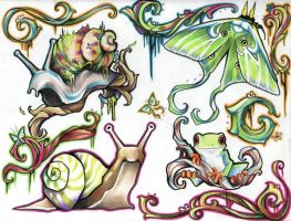 Tattoo Concepts - Toxicreatures by amymiu