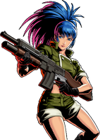 Leona Heidern - METAL SLUG DEFENSE by heidernn