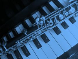 blue oboe and piano by MoonlitReverie85