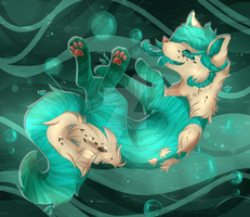 WD: Saltwater room for Sio by Pikachim-Michi