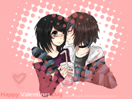 happy valentines day hito . w. by L0rdUsagi