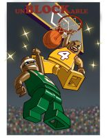 LEGO BASKETBALL: unBLOCKable: color by Jerome-K-Moore