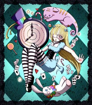 Falling Alice by Voodoo--Dolly