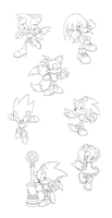 Sonic Sketches 3 by Hydro-King