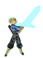 Mirai Trunks Super Saiyan Rage (Sword Of Hope) by Frost-Z