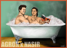 Nagron - In the tub by crazzzedope