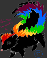 Rainbow Skunk o3o by EmotionlessBlue
