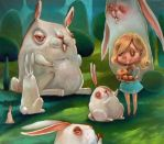 Rabbits are tasting, revenge of Alice by Gegza