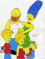 The Simpsons in a new light by Moonkitty