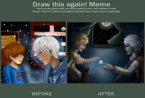 Jack Frost Before and After by minjimouse