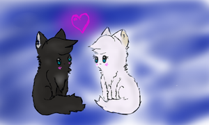 Crowfeather and Feathertail: Like black and white by Arkiva