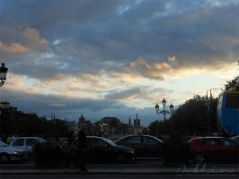 Sunset above Liffey by YourLittleBunny