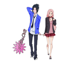 Sasuke and Sakura Render by xMikuChii