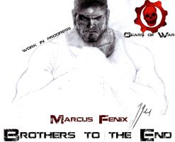 BrothersToTheEnd- Marcus Fenix by GabrielArtist