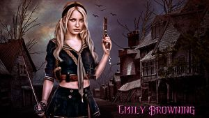 Emily Browning Wallpaper by LordNicax