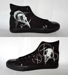 Year of the crow - custom shoes by fiskos01