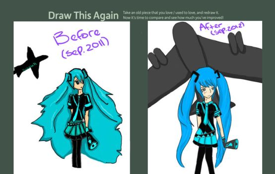 Draw This Again: Love is War - Hatsune Miku by Dusktalon14