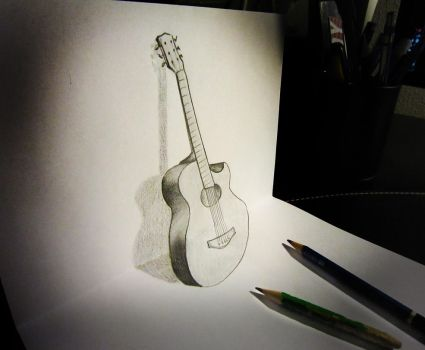 Guitar anamorphosis by AlessandroDIDDI
