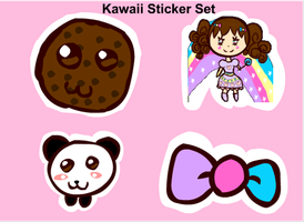 Kawaii Sticker Set by Faery-Rainbow