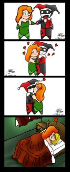 4 scenes of: Harley and Ivy by AkiTsuki69