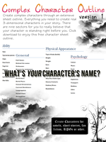 Complex Character Outline V.1 by BecomingTia