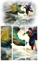 Superman vs Hulk by patokali