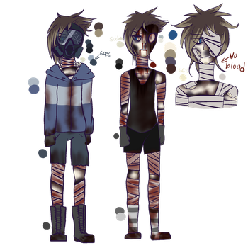 Kelly The Arsonist NEW Reference Sheet (Horror OC) by HybridTheEevee