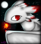 Screaming nightfury ~albino~ by CrimsonFange