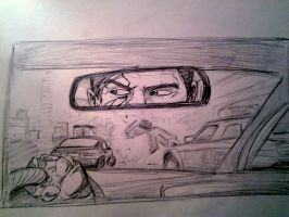 High Speed Chase sketch by papabear7