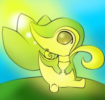 chibi snivy :other one: by OXxDarkStarxXO