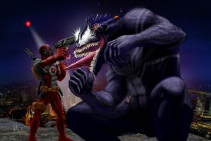 Deadpool vs. Venom by manguy12345
