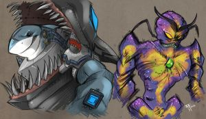 Armaggon and Lord Dregg by Inked-Alpha
