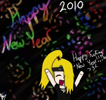 Happy 2010 from Deidara by ErinSoup