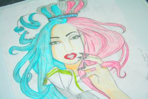 Lady Gaga, Helen Green redraw 2 by Gothchick1995